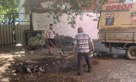 Вывоз мусора и уборка контейнерной площадки по адресу ул. Екатерининская, 96